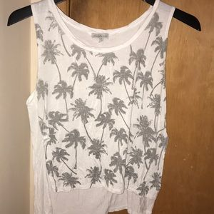 Palm tree tank top
